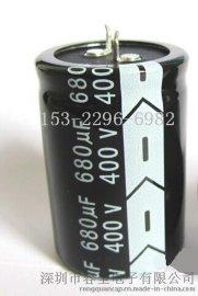 牛角电解电容,牛角型铝电解电容器