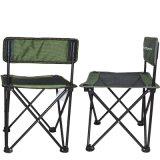 伯顺S2032 户外便携折叠椅 自驾野营办公学习座椅 钓鱼休闲椅 钢管轻便椅 儿童座椅