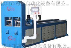 四川成都6米YJ2-2数控全自动管材高速冲孔机,方管自动打孔机,管材自动冲床、数控液压冲床厂家