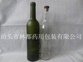模制红酒玻璃瓶棕色红酒玻璃瓶异形棕色酒瓶