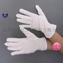 超细纤维布作业手套/白色无尘布手套