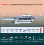 华天专业玻璃磨边机 HXM9320B玻璃直线斜边磨边机