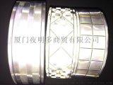 5cm反光晶格条PVC反光晶格带服装辅料
