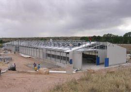 承建 新型钢结构现代化猪舍 带地板支撑梁风机钢结构畜牧舍