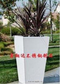 户外盆栽不锈钢花桶   厂家直销方形不锈钢大花盆