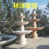 厂家直销园林雕塑 晚霞红石雕喷泉