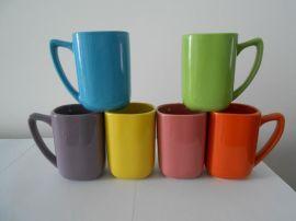 出口级1-3陶瓷色釉方杯11OZ