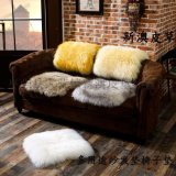 冬季办公室加厚纯羊毛椅垫子汽车皮毛一体羊皮坐垫防滑沙发垫坐垫
