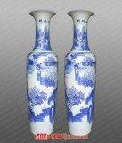 賓館酒店裝飾品中國紅1.8米陶瓷大花瓶