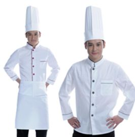 厂家供应酒店工作服定做秋冬装长袖厨师服中餐西餐厅厨房食堂工装