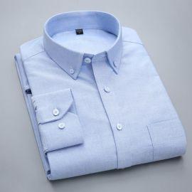 中年男士长袖衬衫牛津纺秋冬装全棉免烫商务正装休闲衬衣现货批发