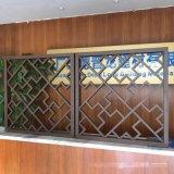 铝屏风 酒店仿木纹铝屏风铝方管焊接屏风