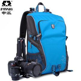 申派摄影背包 防水面料单反相机包双肩摄影包 双肩背包批发分销