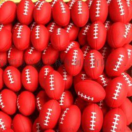 pu发泡橄榄球/多色喷王线大号橄榄球/儿童玩具窒内练习环保橄榄球/发泡挂件