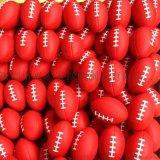pu發泡橄欖球/多色噴王線大號橄欖球/兒童玩具窒內練習環保橄欖球/發泡掛件