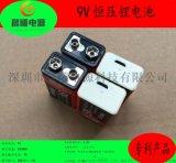 厂家直销 充电锂电池 9伏方形USB充电锂电池  无线麦克风9V锂电池