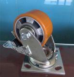 重型4寸铝芯聚氨酯 万向脚轮 万向刹车脚轮