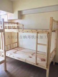 菲律宾**实木床厂家立柱6*6、5*7、4*6上下铺实木床架子床双层