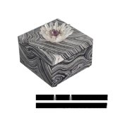 黑色正方形水晶花首飾盒流沙紋理歐式創意臥室酒店實木樣板間擺件