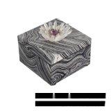 黑色正方形水晶花首饰盒流沙纹理欧式创意卧室酒店实木样板间摆件