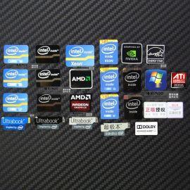 定制电池不干胶电脑电子不干胶标签黑色PVC贴纸商标logo印刷标签
