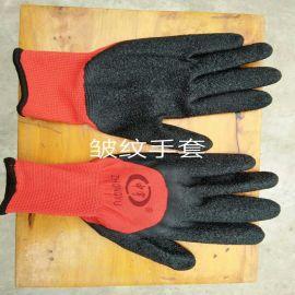 建筑用透气防滑皱纹手套
