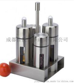 不锈钢调料瓶罐套装 食堂餐厅调味用具 厨房用品