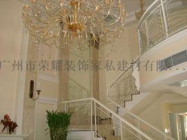 广州别墅楼梯扶手 会所铁艺栏杆 别墅室梯栏