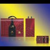 双支红酒皮盒