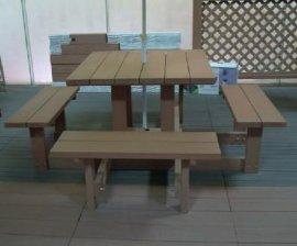 户外休闲桌椅、塑木材质