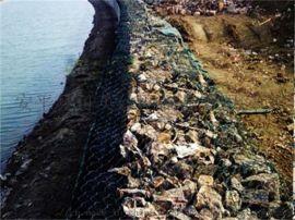 实施格宾石笼护岸工程