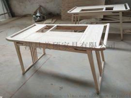 美碩新中式茶桌椅組合 功夫茶臺 仿古實木茶臺