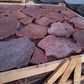 供应火山石板材 机切规格板 天然园林景观石