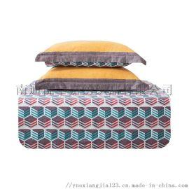 床上四件套 全棉磨毛床品套件 奢华被套床单被罩