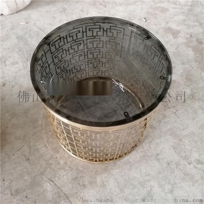 厂家定制圆形玻璃茶几角几不锈钢架子