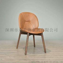 中**餐厅实木餐椅咖啡厅椅子订做深圳餐桌椅供应厂商