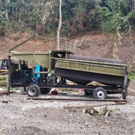 淘金选矿设备型号 沙金大型设备现场 专业淘金设备