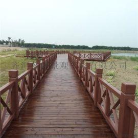 山东景观厂家仿木栏杆 水泥护栏 可定制
