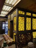 四川仿古門窗美人靠價格實木廊架防腐木花箱