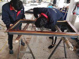 105铝木复合门窗防盗铝木复合一体窗定制厂家