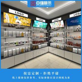 化妆品展柜中岛柜化妆品陈列柜产品展示柜定做厂家