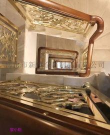 秦皇岛新楼梯中式装修欧式栏杆护栏围栏雕花楼梯扶手