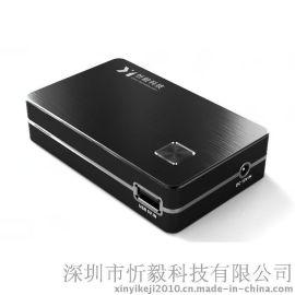 铝合金材质外壳的移动电源 USB和DC两个输出口 DC输出12V/3A 4A 5A电源  USB输出5V/2.1A充电宝