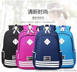 雙肩女包 2015新款雙肩包潮流帆布包男女休閒旅行包高中書包