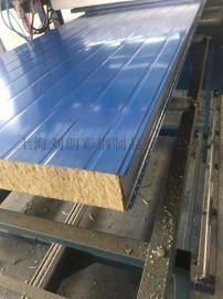 岩棉夹芯板生产厂家供应950型岩棉彩钢板