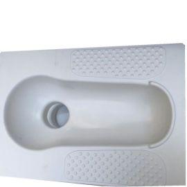 陶瓷四角蹲便器长540mm宽400mm进水口38mm农村改厕专用