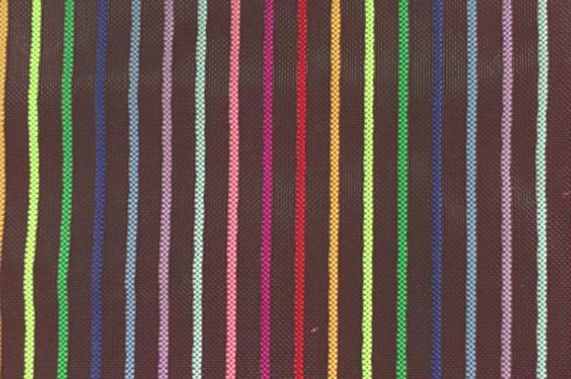 尼龙条纹网布 多色七彩条网 化妆袋尼龙纱网面料 七彩条子网布