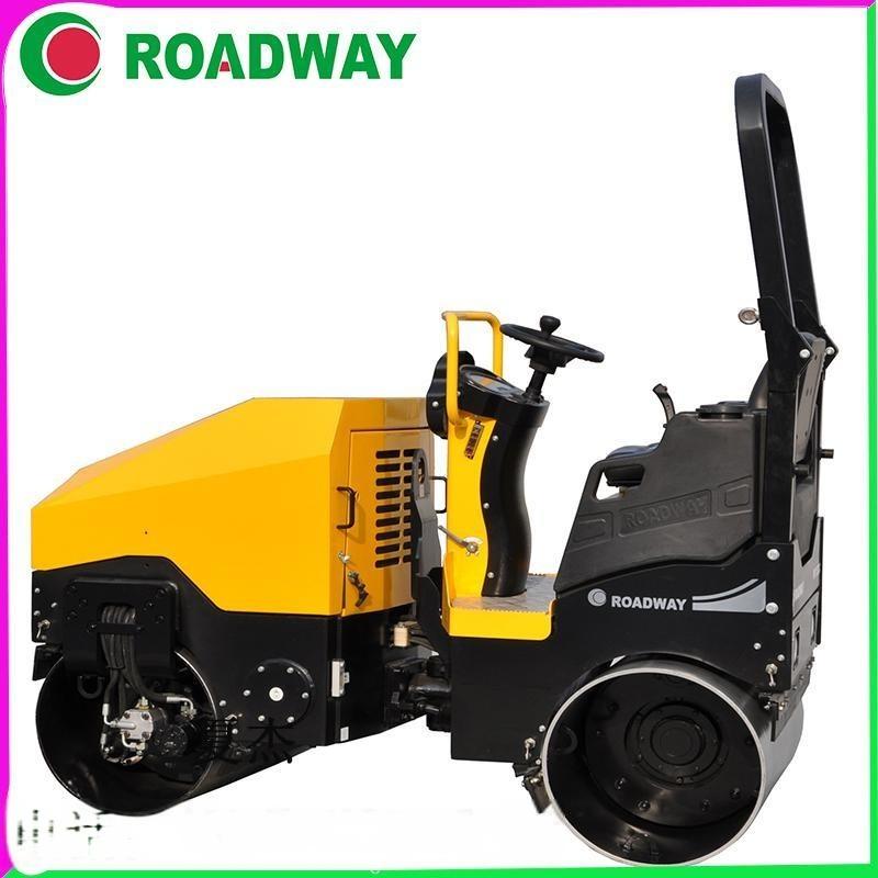 ROADWAY压路机RWYL52C小型驾驶式手扶式压路机厂家供应液压光轮振动压路机海南