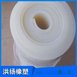 现货供应 1-10mm耐高温硅胶板 白色硅胶板 高弹抗撕裂硅胶板