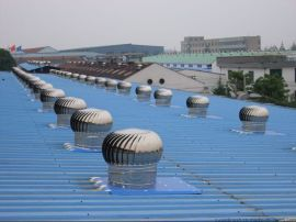 A上海无动力风球屋顶自动风帽旋转风机没电的